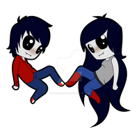 Marshall and Marceline by bluelight-heart