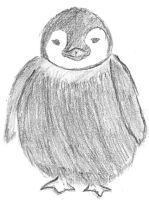 Baby Penguin Sketch by Roxyielle