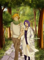 Walk with a beautiful lady by Kimir-Ra