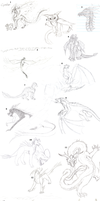 Sketch Dump 1 +Mythic+ by min-mew
