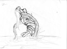Malaya Tentacle Sketch 3 by ThePerilPimp