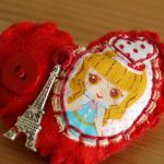 Little French Girl Brooch by AndyGlamasaurus