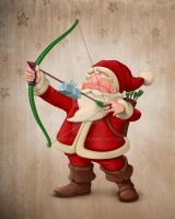 Santa Claus archer by jordygraph