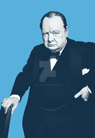 Winston Churchill by monsteroftheid