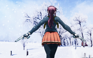BL: Revy in the snow by dubkatz