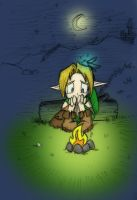Link at hyrule night by Almiux19