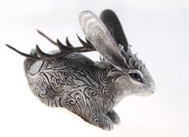 Gray Jackalope by hontor