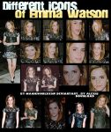 Differents icons of Emma W. by MagicWorldxHp