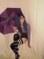 Posing Purple Umbrella by CharmandersFlame