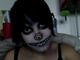 Me With Laughing Jack Make Up cx by Saviour-Of-The-Fate