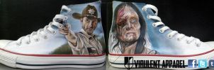 The Walking Dead shoes by danleicester