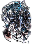 Black Rock Shooter Clock by Kaza-SOU