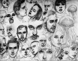 Sketches 62-84 by SummerSucculence