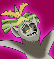 King Julien is... drunk, I guess. by Julieness-Madness