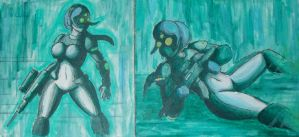 StarCraft Ghost Paintings by Twisted4000
