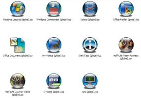 Misc Apps 6 Icons -Globe- by jamest