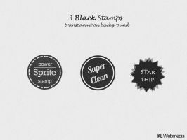 3 Black Vector Stamps by KL-Webmedia