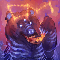 Three-eyes magic bear by Drahiny
