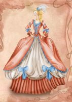 Rococo Costume Inspired Fashion Illustration by BasakTinli