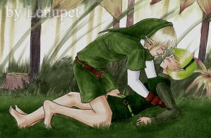 Link x Saria by LenupetComics