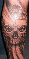 Tibetan skull tattoo by MPDesign
