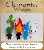 Elemental Wisps by cutekick