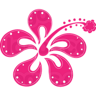 Hot Pink Flower PNG by HanaBell1