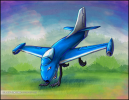 [comm.] Cheerful blue jet by LightConcorde