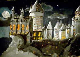 Hogwart at night by maybe55