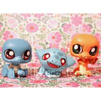 Pokemon G1 starters inspired LPS customs by pia-chu