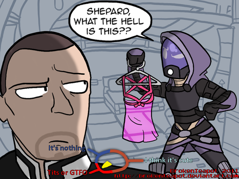 Fantasy conversation with Tali by BrokenTeapot
