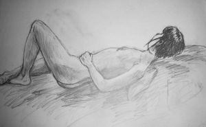 COLLEGE LIFE DRAWING 6 by phymns