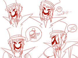 Puppetmaster doodles by toboeslovingwolf