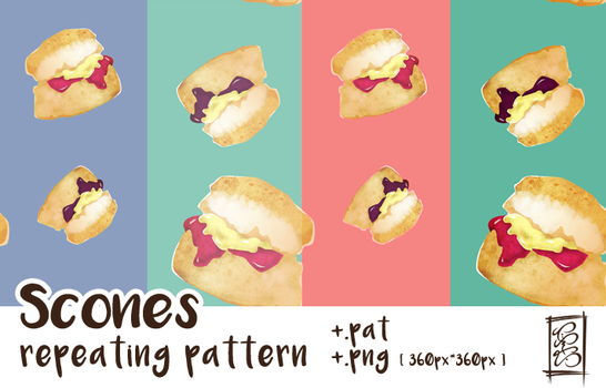 [Stock] Pastel Scone Patterns by dimawari