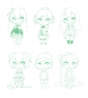 Mini Chibi Sketches by mint-muffin