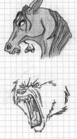 Horse and Wolf by Lunard-Wolf
