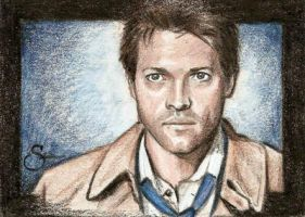 Castiel Sketch card by scotty309