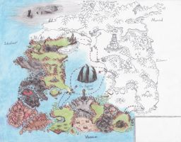 Mierdal World Map -Half Done- by Ai1ment