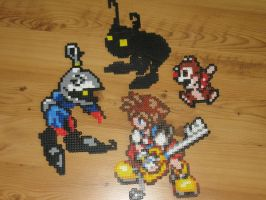 kingdom hearts bead sprites by gfroggy87