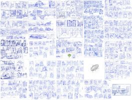 Sketchdump (landscape and castles) by Lyraina