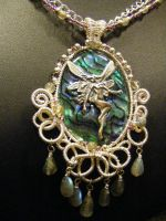 blue fairy divine necklace by BacktoEarthCreations