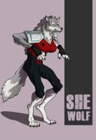 Chubeto's Young Justice Invasion She-Wolf by Hewylewis