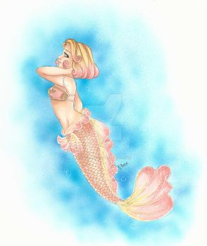 Day 21: Human as a Mermaid by chelleface90