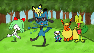 My Pokemon Dream Team by windy15
