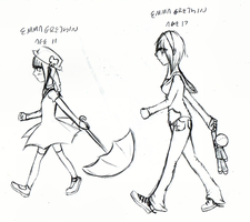 Emma Gretchin: Ages 11 and 17 by infinitize