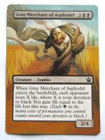 MTG Gray Merchant of Asphodel Altered Paint by Fallingfreely