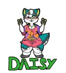 Daisy badge (commission) by Kawaii-fur-costumes
