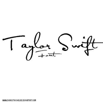 Taylor swift font by shakeitnicholas