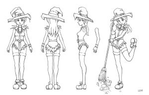 witch model sheet by PigeonKill