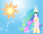 MLP: Princess Celestia Wallpaper by Togekisspika35